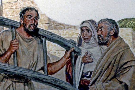 Le prophète Jérémie portant le joug de la foi