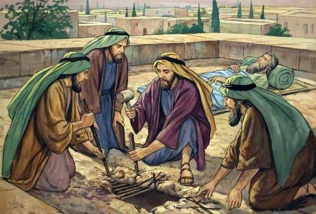 Jésus guérit l'homme paralysé