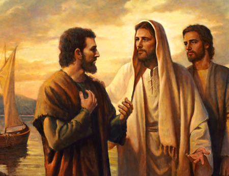 André et Jean en intimité avec Jésus